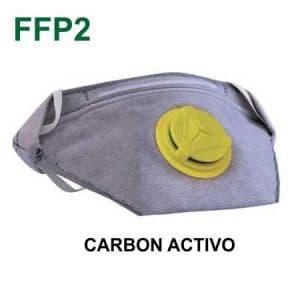 Mascarilla carbón activo ffp2