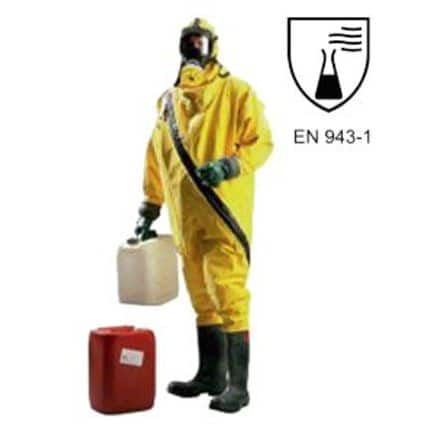 traje de protección química