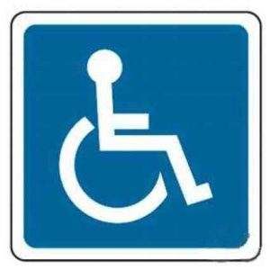 Señal minusválidos-aparcamiento