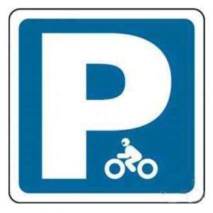 reservado para motocicletas