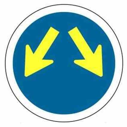 Señales de tráfico azules