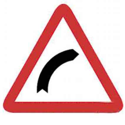 Señales de tráfico curva peligrosa