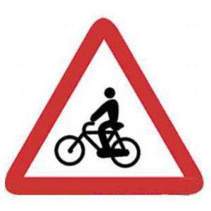 Señales de tráfico ciclistas