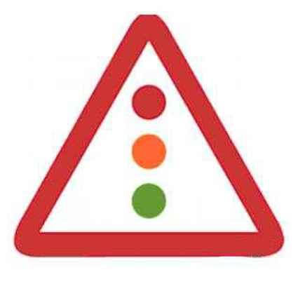 Señales de tráfico semáforo