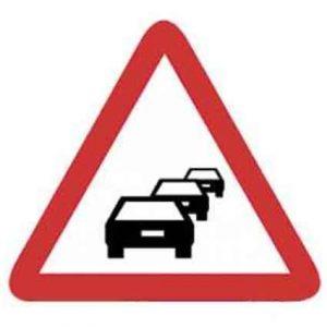 Señales de tráfico de congestión
