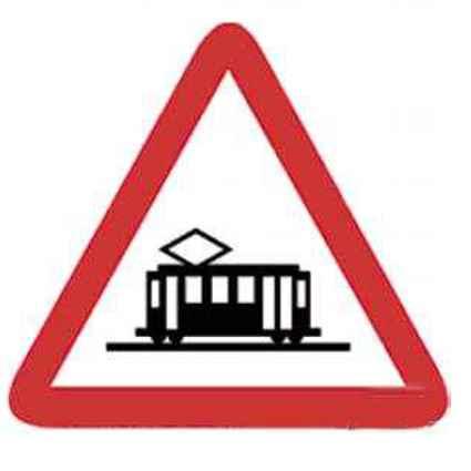 Señal cruce de tranvía