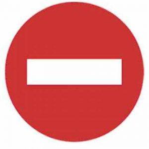 Señal de dirección prohibida