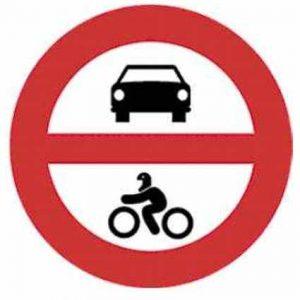 Señales tráfico prohibición económicas
