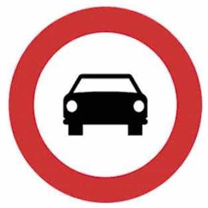 Entrada prohibida vehículos de motor