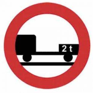 Señalización vial de prohibición