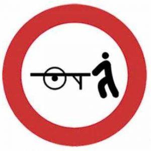 Entrada prohibida a carros