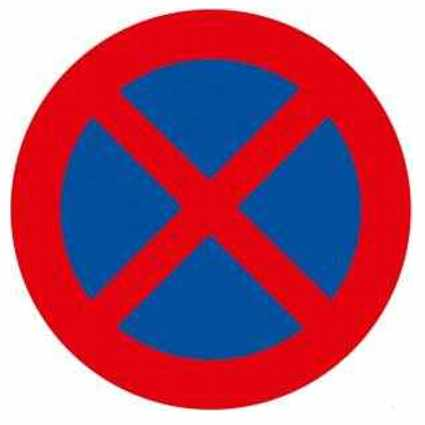 Parada y estacionamiento prohibido