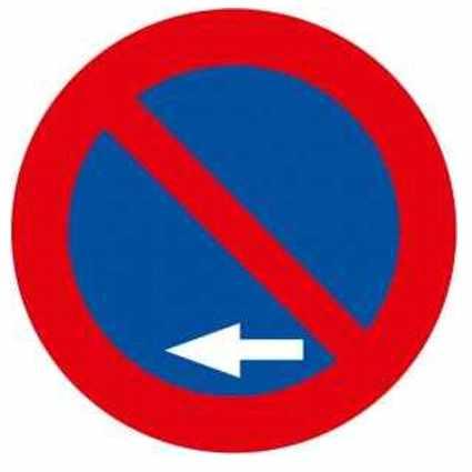 Señales de prohibido estacionar