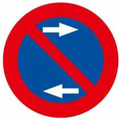 Prohibido aparcar en ambos lados