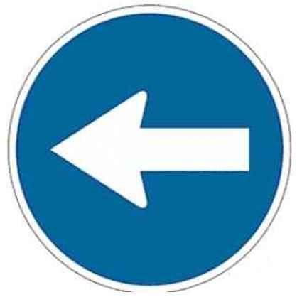 Señal dirección