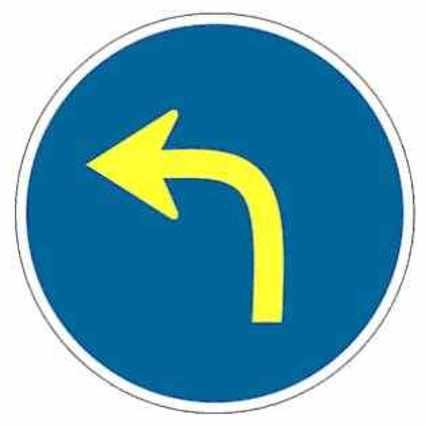 sentido obligatorio giro a la izquierda