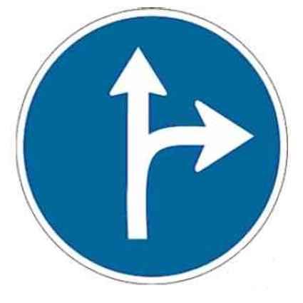 Señales tráfico de obligación