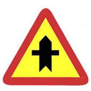 Señales de tráfico amarillas