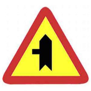 Señal tráfico para obras