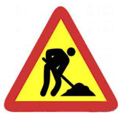 Señales de tráfico obras