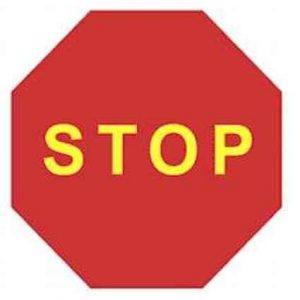 señales Stop para obras