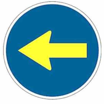 Señales de obligación tráfico