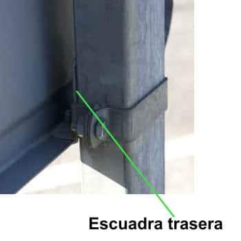 abrazadera rectangular para postes trafico