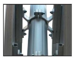 abrazaderas dobles de aluminio