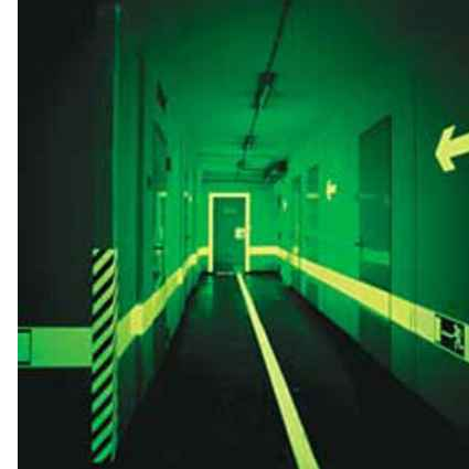 cintas fotoluminiscentes