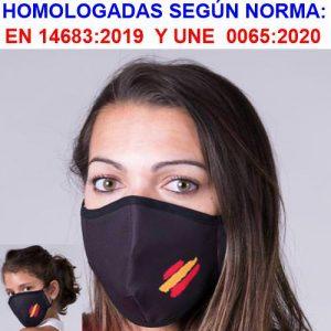 Mascarilla reutilizable bandera España