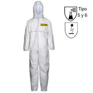 Traje protección química
