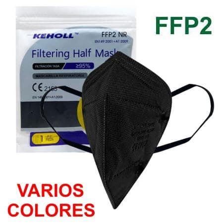 Mascarillas FFP2 colores homologadas