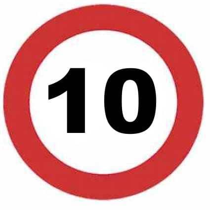 Señal de 10 km/h