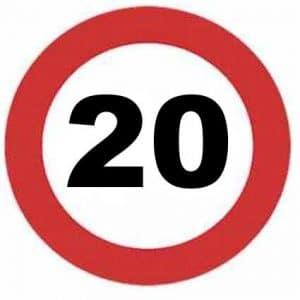 Señal velocidad máxima 20