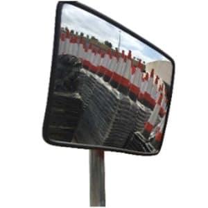 Espejo de tráfico rectangular